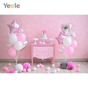Image 3 - Yeele 1st Birthday Photozone Balloons Balls Cake Photography Backdrops Personalized Photographic Backgrounds For Photo Studio