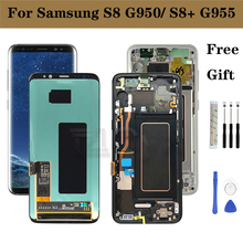 For Samsung Galaxy S8 LCD LCD Display Touch Screen G950F G950U For Samsung S8 Plus G955F G955U Touch Screen Assembly With Burns