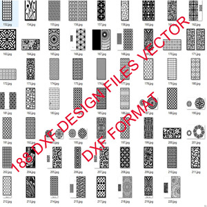 Image 5 - 188 metal door window decor hollow sheet dxf format 2d vector design drawing for CNC laser plasma cutting files collection