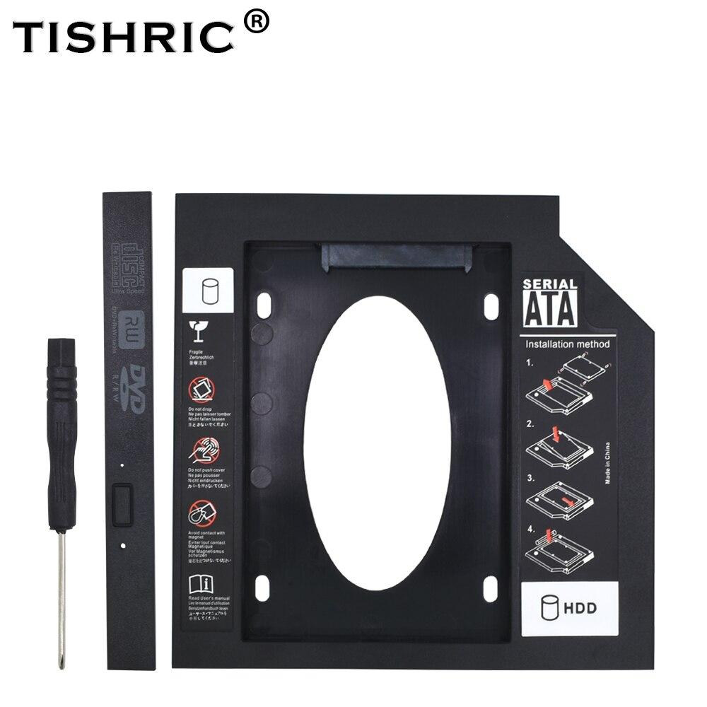 Универсальный пластиковый жесткий диск TISHRIC 9,5 12,7 мм SATA 3,0 Optibay для 2,5 дюймового твердотельного жесткого диска корпус для ноутбука DVD ROM ODD Корпус жесткого диска      АлиЭкспресс