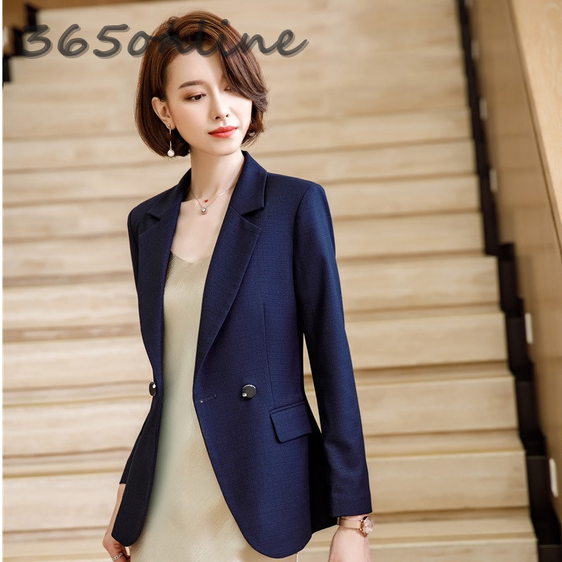 High Quality Fabric Formal Women Blazers And Jackets Autumn Winter Blaser Ladies Office Blazer Coat Outwear Tops Clothes