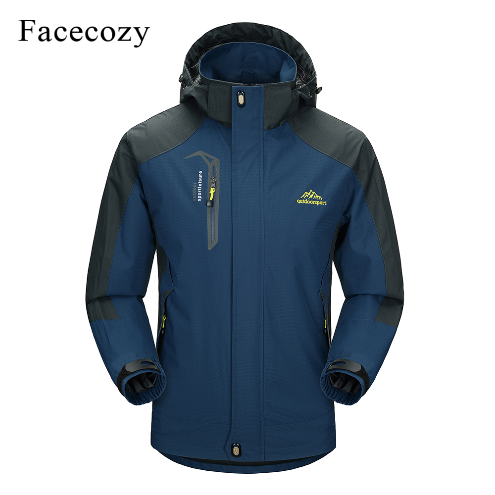 Facecozy Men Women Winter Outdoor Waterproof Hiking Jacket Sports Climbing Trekking Hooded Clothes Camping Hunting Fishing Coats