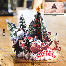 цена 3D Cards Birthday Christmas Tree Greeting Cards New Year Postcard Gift Card Valentine's Day Gift Party Invitation Christmas Card онлайн в 2017 году