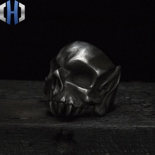 Original Design Bioh Skull Handmade Silver 925 Ring Dark Punk Depth Old