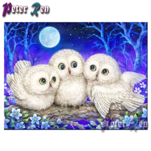 5d Animal white owl Diamond Painting DIY full Square\Round Rhinestone Embroidery Mosaic picture Handmade Modern home decoration diamond painting full square owl 5d diy diamond embroidery mosaic picture of rhinestone animal christmas decoration home