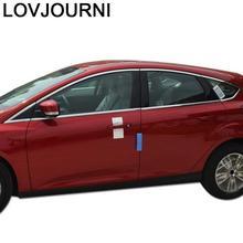 Okno samochodu nadwozia zewnętrzne samochodowe Auto chromowane okładki ozdoba akcesoryjna modyfikacja 12 13 14 15 16 17 18 dla Ford Focus tanie tanio LOVJOURNI 0inch Chrom stylizacja Decoration NONE