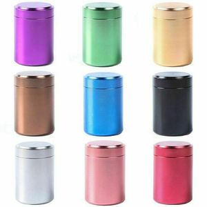 2020 Новинка 70 мл металлическая герметичная банка с защитой от запаха алюминиевый контейнер для хранения трав металлическая герметичная бан...