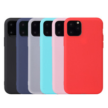 Soft TPU Silicon Case For iPhone 11 Pro Max Candy Color Back Cover Coque X XS MAX XR 2019
