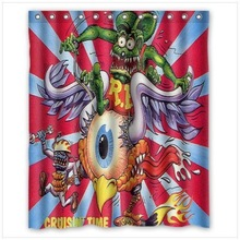 RAT FINK BIG DADDY Polyester Durable Fabric Waterproof shower curtain