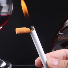 Torch-Lighter Cigarette-Shaped Mini Fire-Grinding Butane Gas Metal Creative Outdoor Compact