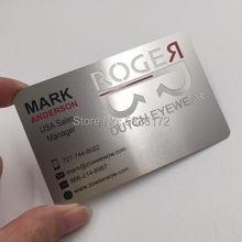 Новый дизайн металлическая визитная карточка/визитница из нержавеющей