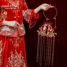 Himstory Китай старинный свадебный букет круглый фонарь кисточка