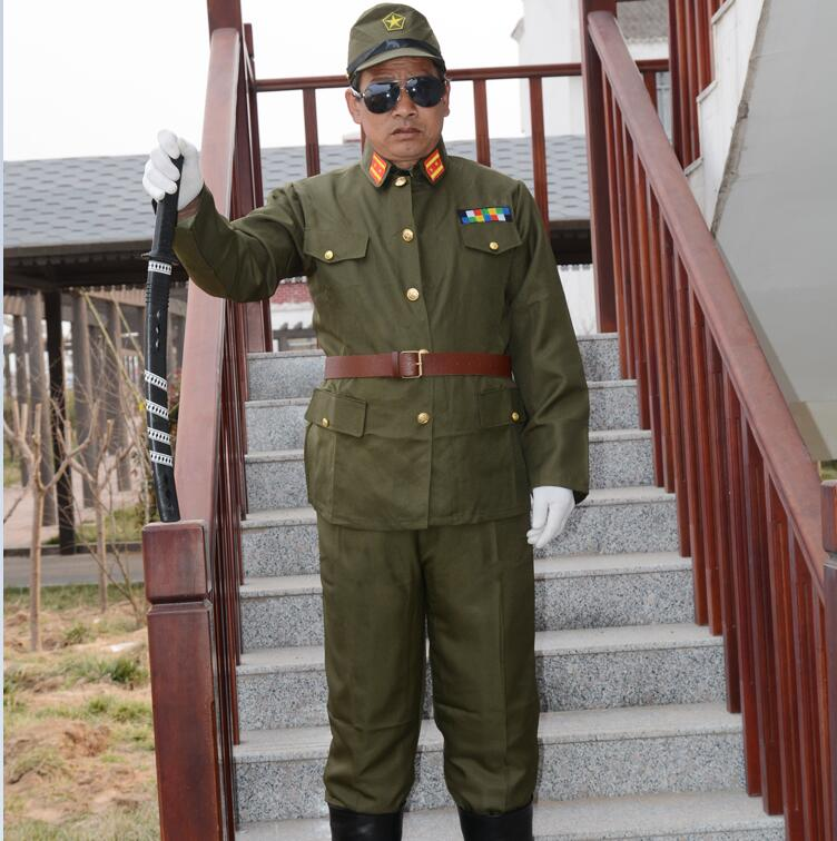 Japanese Military Costume WW2 Japanese Military Uniform Japan WW II Japanese Imperial Officer Traditional Vintage Green Uniform