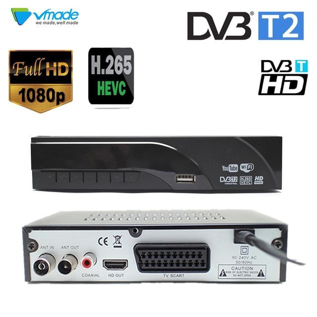Newest DVB T2 Terrestrial digital receiver decoder H.265/HEVC DVB T support h265 H264 hevc dvb t2 hot sale Europe Czech Republic