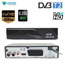 Più nuovo DVB T2 ricevitore digitale terrestre decoder H.265/HEVC DVB T supporto h265 H264 hevc dvb t2 vendita calda europa repubblica ceca