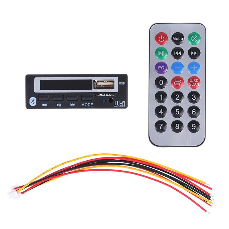 Audio USB TF FM Radio MP3 Module Wireless Bluetooth5.0 12V MP3 WMA Decoder Board