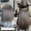 Light Yaki Straight Kinky grube mikrolinki przedłużanie włosów luzem 1 I 2 I 3 wiązki I końcówka mikrolinki do włosów ludzkich Salon 3S włosy hurtowo