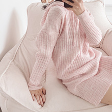 2019 New Women Sweaters High-elasticity Long-length Sweater Full Pullovers Clothes