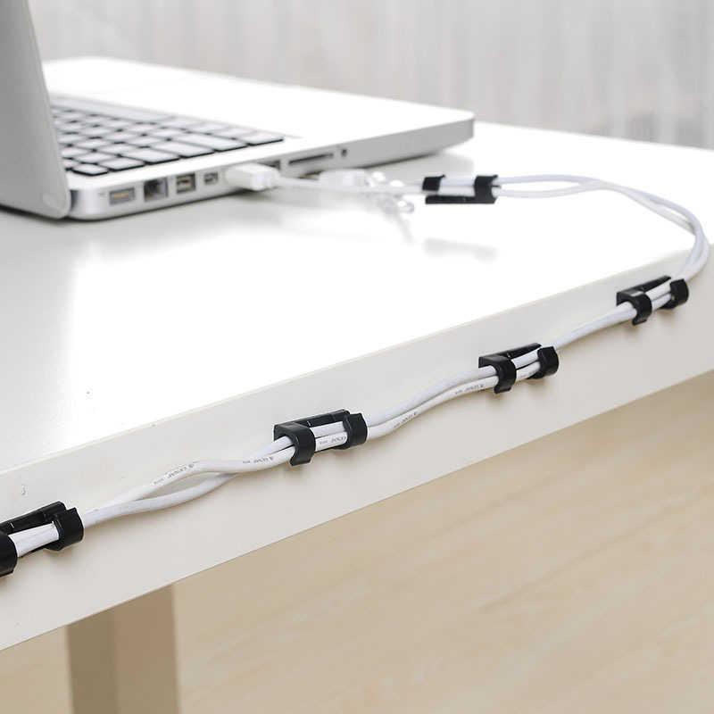 20 шт. мини USB шнур клейкий Органайзер провода устройство для хранения провода держатель портативный кабельные зажимы шнур питания намотка для домашнего офиса