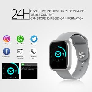 Image 4 - Reloj inteligente GT IP68, dispositivo portátil, resistente al agua, Bluetooth, podómetro, Monitor de ritmo cardíaco, pantalla a Color, para Android e IOS