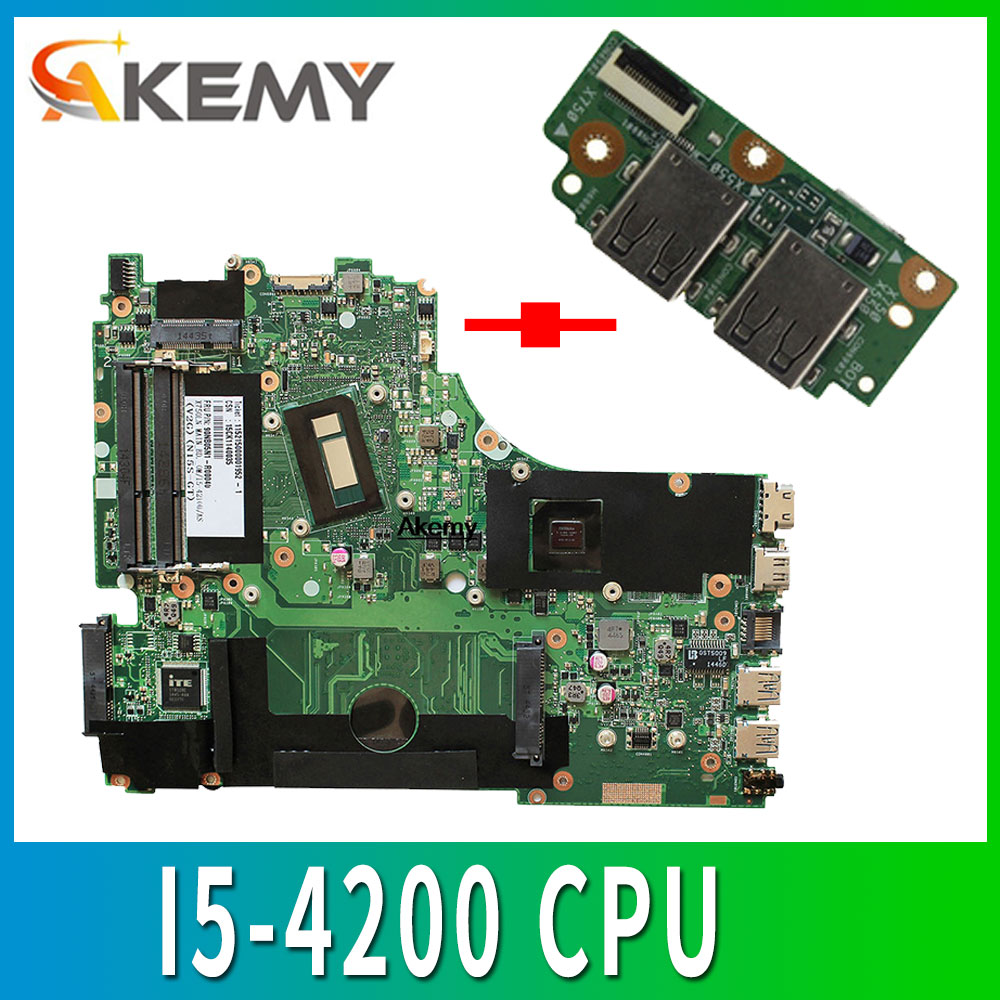 Send board+X750LA Motherboard I5-4200 CPU For <font><b>ASUS</b></font> <font><b>X750LB</b></font> X750L X750LN laptop Motherboard X750LA Mainboard X750LA Motherboard image