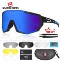 QUESHARK  новый дизайн  поляризованные велосипедные очки для мужчин и женщин  велосипедные очки  солнцезащитные очки для велоспорта  5 зеркальны...