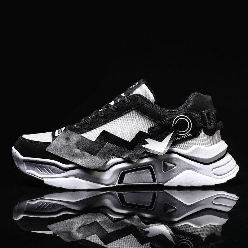 TGoBro Men's Casual Walking Shoes Knit Running Slip-on Sneakers