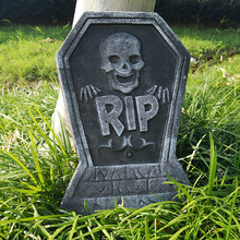 Garden-Decoration Tomb Skull Party-Supplies Haunted Halloween Rip-Letters with Skeleton