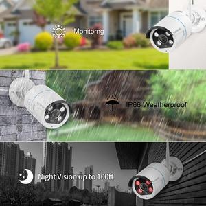 "Image 5 - Techege 8CH אבטחת CCTV מצלמה 1080P IP המצלמה WIFI NVR ערכת 12 ""LCD צג אבטחה 2MP שתי דרכים לדבר מצלמה"