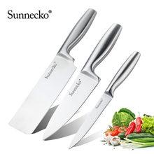 Набор кухонных ножей шеф повара sunnecko бесшовная ручка из