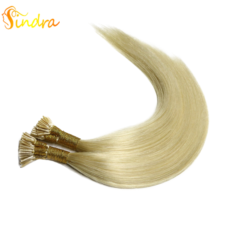 Sindra Light Color Hair Keratin Extensions I Tip Hair Extensions Pre Bonded Remy Hair