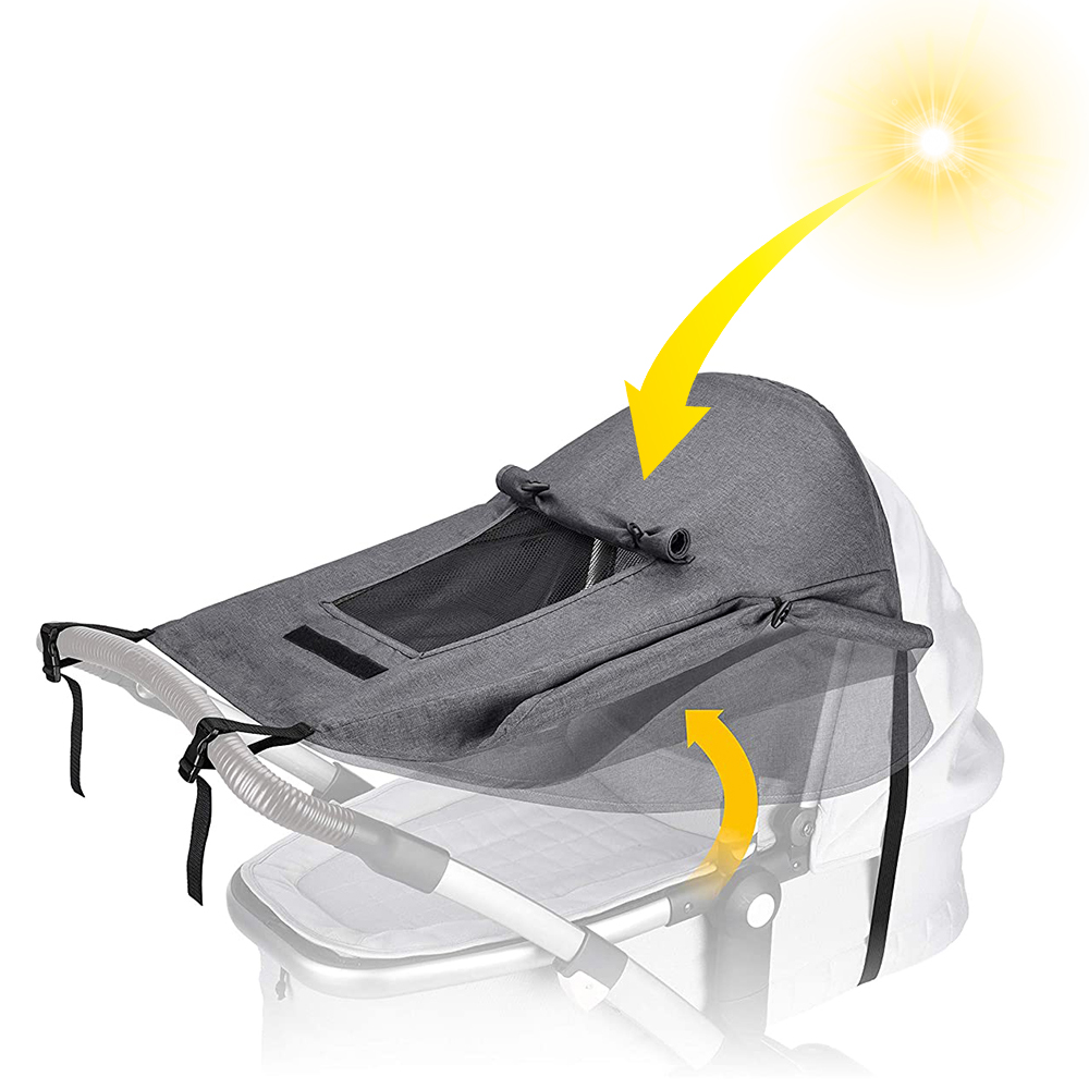 Baby Stroller Awning Protection Sunscreen Pushchairs Sun Canopy Universal Sunshade Protection Sunscreen Pushchair Safe Awning