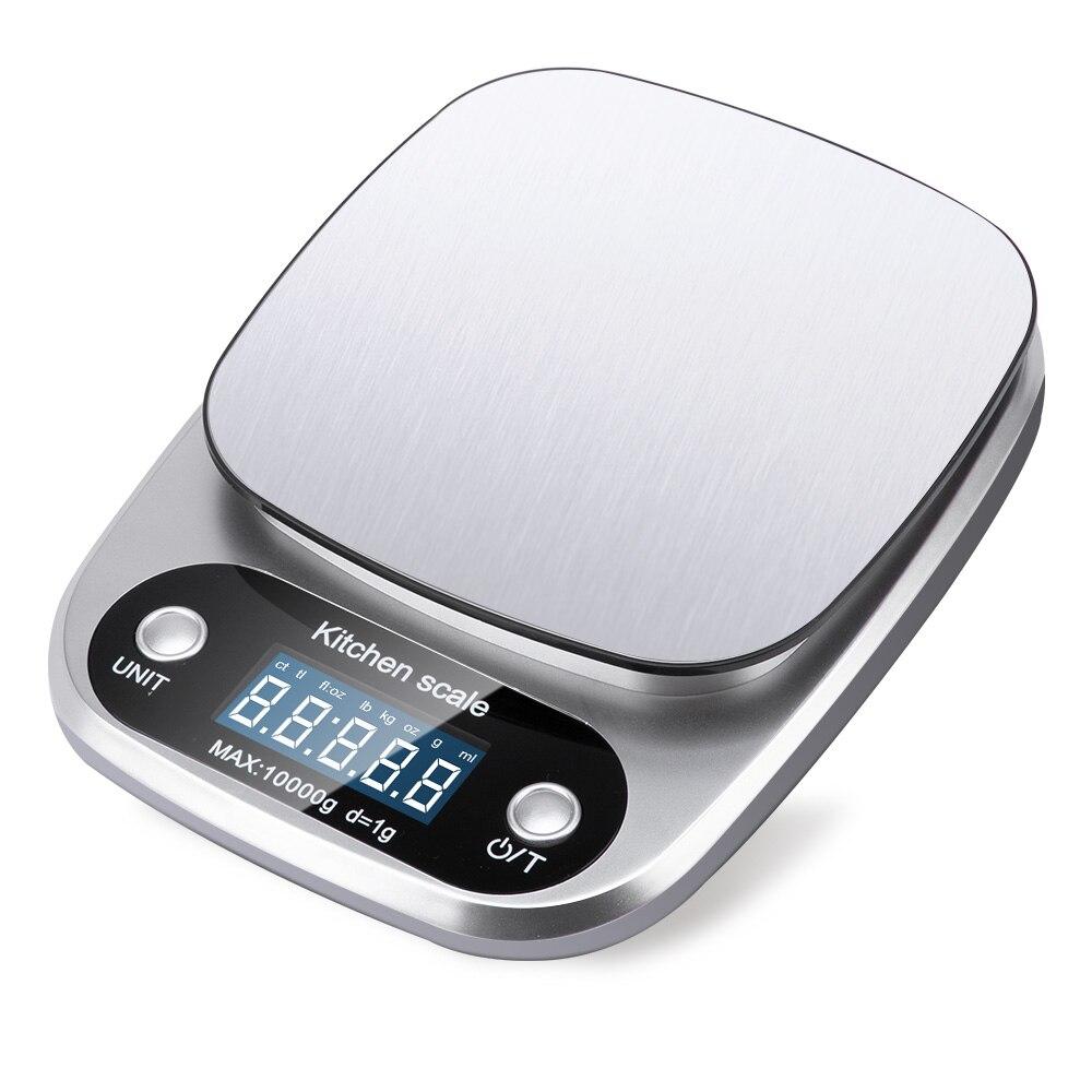 Принимает массу весом до 5 кг/10g Кухня цифровой шкалой ЖК-дисплей электронные весы 1g/0,1g для Еда весы измерительная Вес Весы Почтовый-2