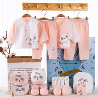18 piece/lot Newborn Baby Girl Clothes 100% Cotton Infant Baby Girl Summer Clothes Soft Baby Boys Clothing Newborn Hat Bibs 0 6M