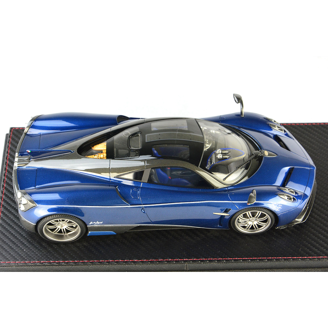 1:18 Auto Model Pagani Huayra Model Collection Decor Met Base Stofkap Model Educatief Speelgoed Blauw/Charcoal Grey /Paars Rood - 6