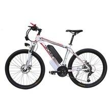 Bicicleta Eléctrica C6 de 26 pulgadas, 48V, 10AH, 350W, 21 velocidades, alta calidad