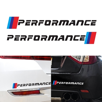 2pcs New M Performance Logo Side Skirt Stickers Decal Graphic for BMW e46 e39 e60 e90 e36 f30 f10 X5 e53 e70 e34 e30 f20 f15 g30 image