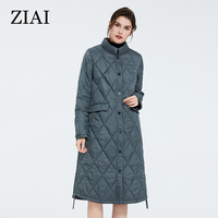 ZIAI 2020 hotsale Spring Women Jacket long Warm parkas Windproof Thin Cotton Quilted female coat office lady in stock ZM 7214
