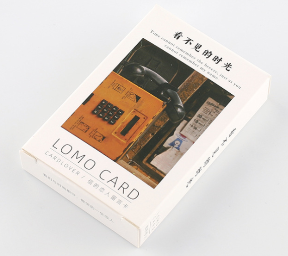 52mm*80mm Unknown Time Paper Greeting Card Lomo Card(1pack=28pieces)