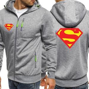Image 3 - Superman Logo Mens Hoodies Autumn New Zipper Jacket Men Hot Sale Hooded Sweatshirt Casual Coat Sportswear Brand Male Tracksuit