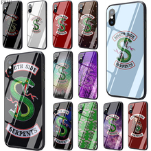 Get more info on the EWAU Riverdale South Side Serpents Tempered Glass phone case for iphone 5 5s SE 6 6s 7 8 plus X XR XS Max