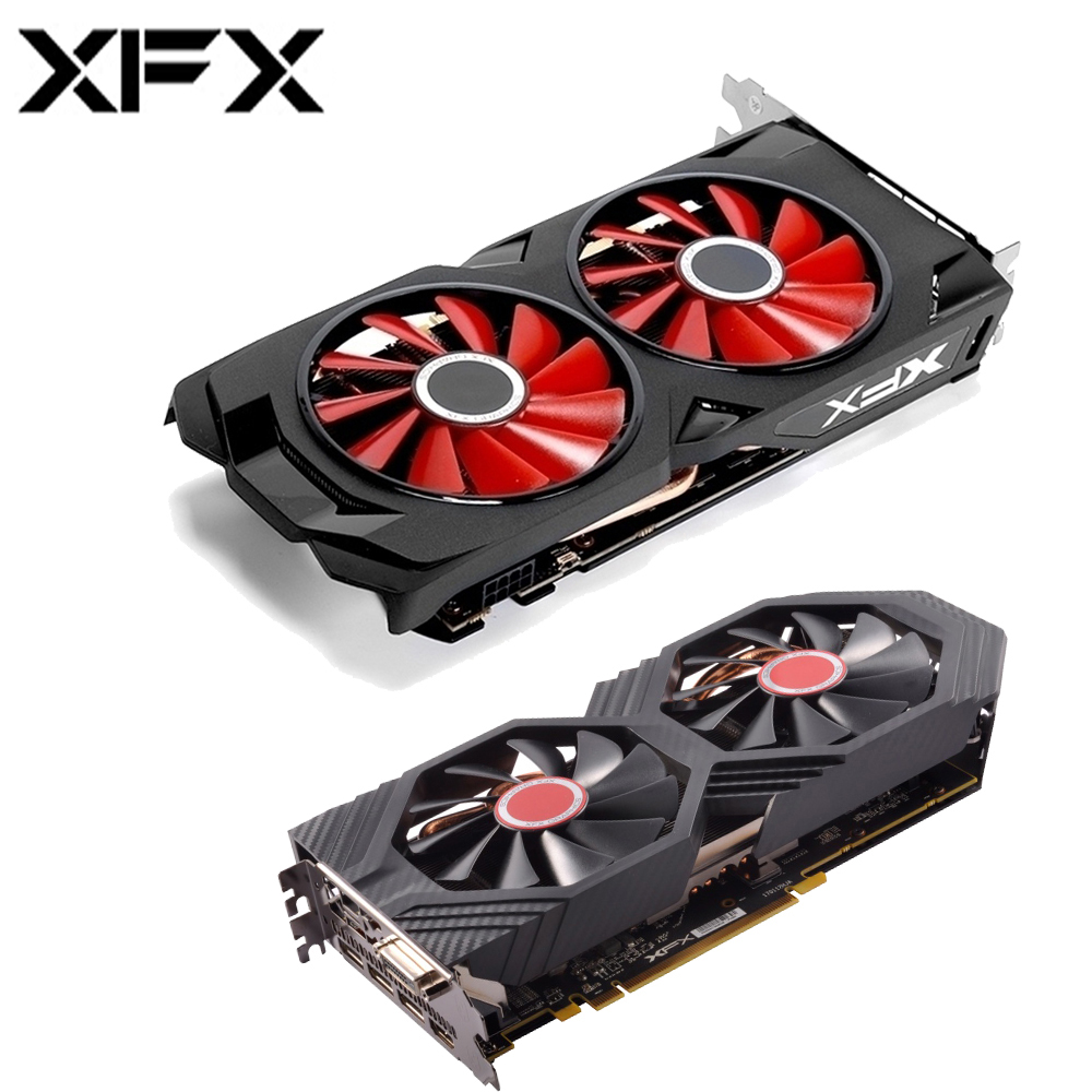 XFX AMD Radeon RX580 4GB DDR5 Graphics Card AMD GPU RX 580 4GB 256 Bit Desktop Gaming PC Video Card Computer Gamer Used Cards