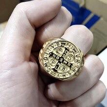 Иерусалимский крест кольцо Нержавеющая сталь крестовых религиозных Иисус Христос средневековый храмовник военные среднего возраста для Для мужчин