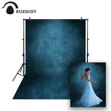 цена на Allenjoy Thin Vinyl cloth photography Backdrop blue Indoor photography background cloth computer print can customized MH-079