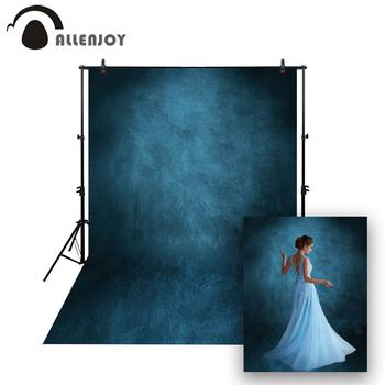 Allenjoy photography newborn baby backdrop solid color blue vintage grungy wedding photocall photo background studio photophone
