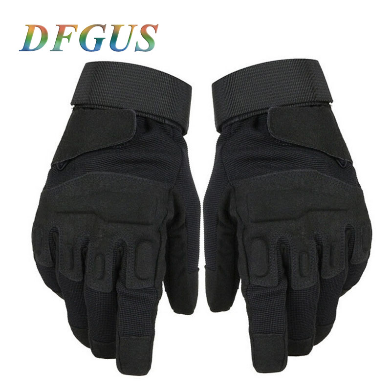 Touch Screen Full Finger Gloves Tactical Protective Gear Motorbike Racing Rubber Hard Knuckle Outdoor Hiking Gloves For Men