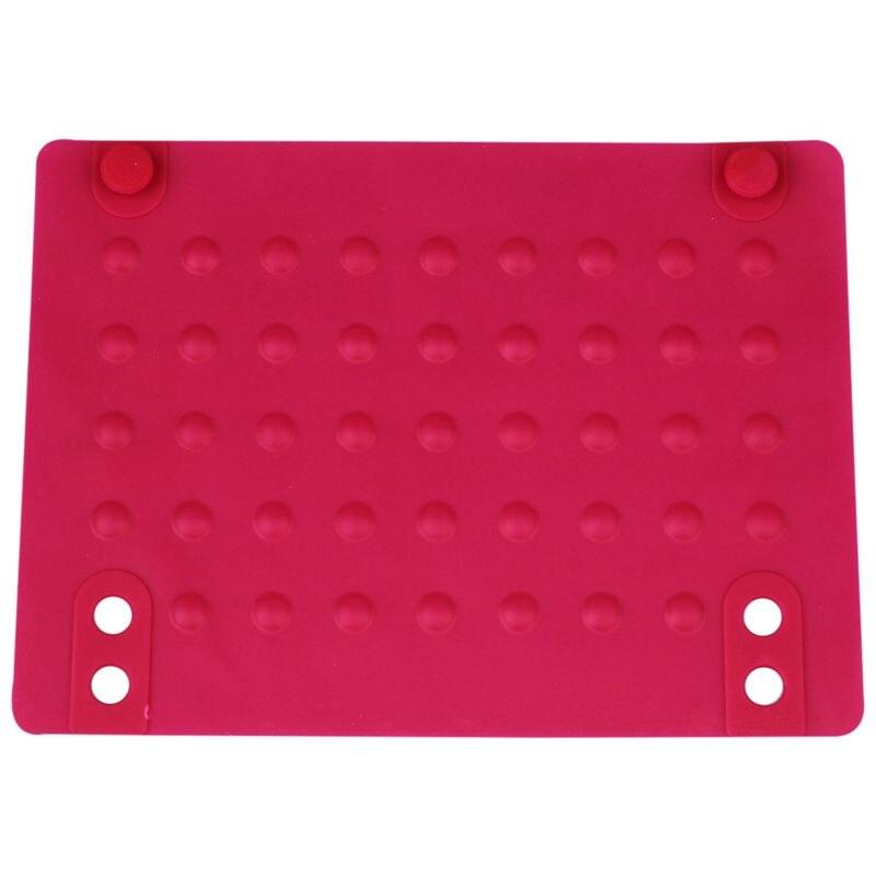 Силиконовые термостойкие коврики анти-тепло коврики для выпрямителя волос щипцы для завивки (розово-красный) 215*165 см