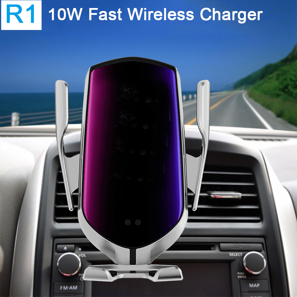 R1-Automatic-Clamping-10W-Car-Wireless-Charger-For-iPhone-Xs-Huawei-LG-Infrared-Induction-Qi-Wireless