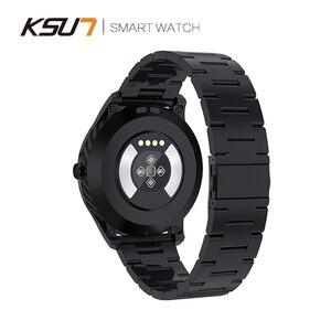 Image 5 - KSR909 ساعة ذكية تعمل باللمس كامل الشاشة IP68 مقاوم للماء ECG كشف بطلب للتغيير Smartwatch جهاز تعقب للياقة البدنية سوار ذكي