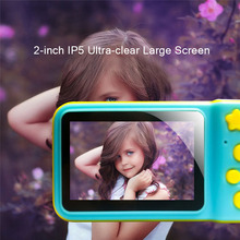 цена на 2 Inch HD Screen Children Mini Camera Kids Educational Toys for Kids Birthday Gift Digital Camera 1080P Projection Video Camera